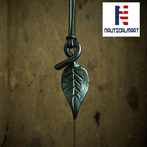 Leaf Pendant, Leaf Necklace, Forged Jewelry, Iron Pendant, Viking Pendant, Viking Jewelry, Celtic Necklace, Viking Pendant