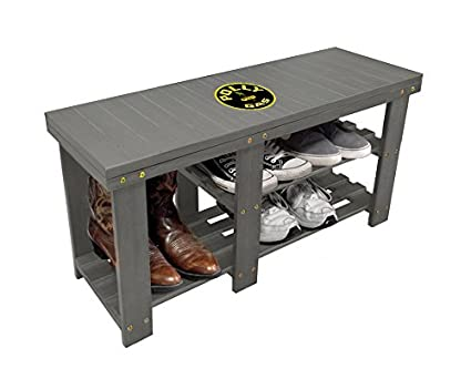 Charmant Menu0027s Shoe Storage Bench In A Gray Finish Featuring The Choice Of Your  Favorite