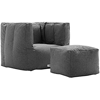 Big Joe Lux Cube & Ottoman in Union, Gray