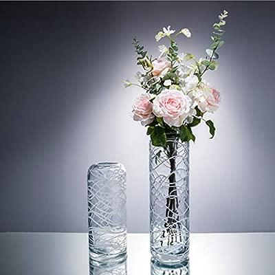 Jarrón AMINSHAP Cristal Transparente Transparente Moderno ...