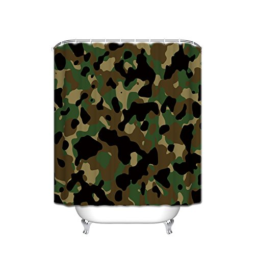 Crystal Emotion Camouflaged Shower Curtain