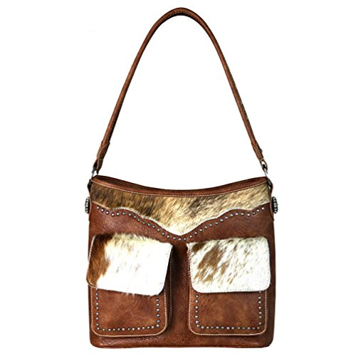Ranch on Leather West 916 Hair Montana Handbags Trinity by TR62 Hobo Brown fwRdZqfgx