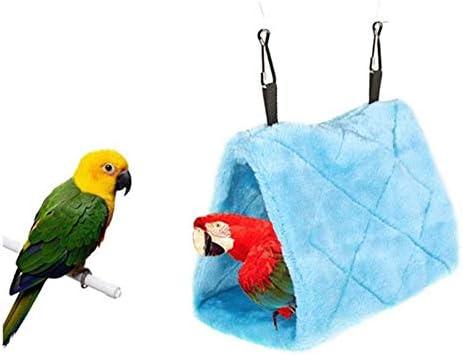 Hamaca De Loros Aves Mascotas Cama Colgante del Snuggle Cave House Colgando Fuzzy Juguete Nido C/álido Invierno De La Felpa