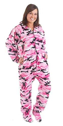 Forever Lazy Footed Adult Onesie - Pink Comatose Camo - XXL
