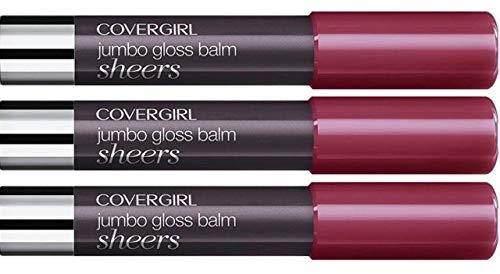 (Pack 3) COVERGIRL Lip Perfection Jumbo Gloss Balm 255, Jam Twist.13 - Gloss Jam Lip