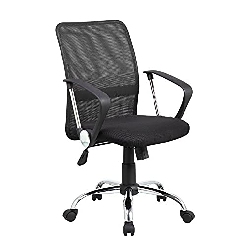 most comfortable chair. Eurosports Office Chair ES-8075-BK Mid-Back Mesh Computer Swivel With Height Adjustable, Black Most Comfortable T