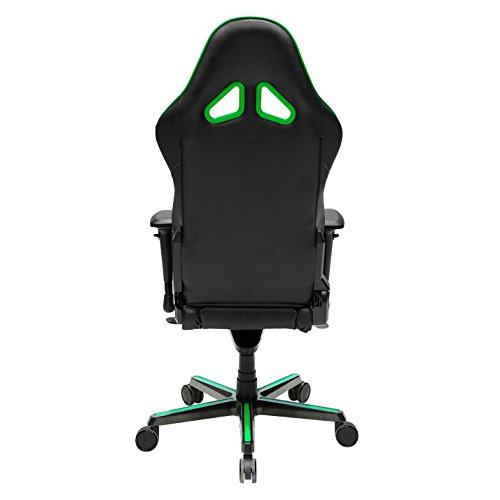 41EpXFsSjHL - DXRacer OH/RV001/NE Racing Series Black and Green Gaming Chair - Includes 2 free cushions