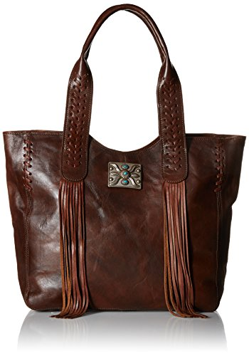 West American Western Handbag (American West Mohave Canyon Large Zip Top Tote, Chestnut Brown)