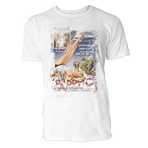 SINUS ART® Daddy-O Herren T-Shirts stilvolles weißes Fun Shirt mit tollen Aufdruck