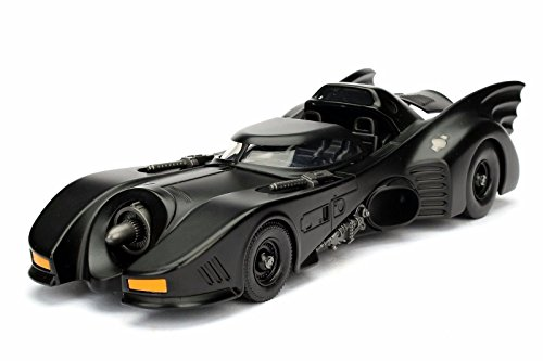 Model Bat Black (NEW 1:24 DISPLAY JADA TOYS CLASSIS TV SERIES COLLECTION - MATTE BLACK 1989 BATMOBILE Diecast Model Car By Jada Toys (WITHOUT RETAIL BOX))