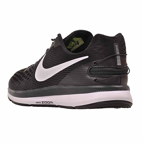 ... Nike Womens W Luft Zoom Pegasus 34 Flyease, Svart / Hvit-mørk Grå Svart  ...