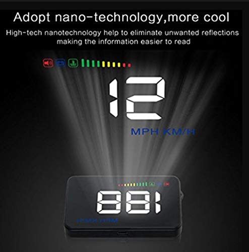Fansport Head Up Display Windshield Projector Multifunctional Alarm System Vehicle Mounted OBD 2 Car Electronic Display