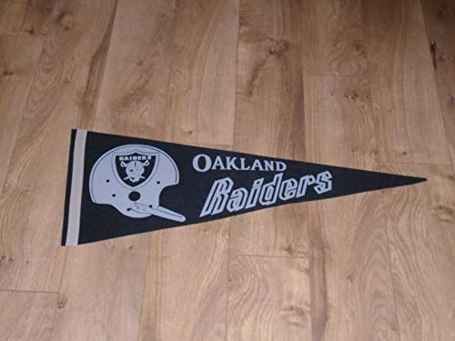 1960'S AFL OAKLAND RAIDERS SINGLE BAR FULL SIZE PENNANT for sale  Delivered anywhere in USA