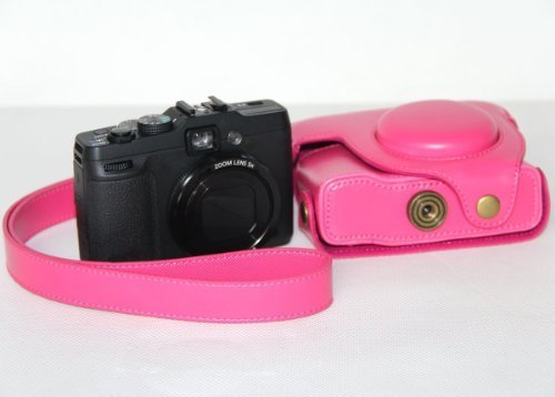 /Funda de piel para c/ámara Canon PowerShot G16 /G16/Ever Ready/ color rosa MegaGear/