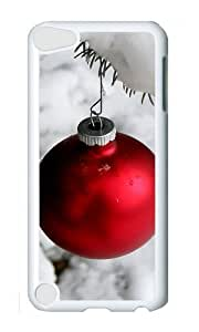 Ipod 5 Case,MOKSHOP Cool Snow and Christmas ball Hard Case Protective Shell Cell Phone Cover For Ipod 5 - PC White