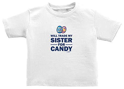 [Funny Toddler Gifts Will Trade My Sister for Candy Easter Toddler T-Shirt 2T White] (Monkey Outfits For Toddlers)