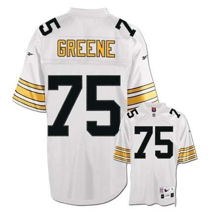 Joe Greene White Reebok NFL Premier 1976 Throwback Pittsburgh Steelers Jersey - Medium