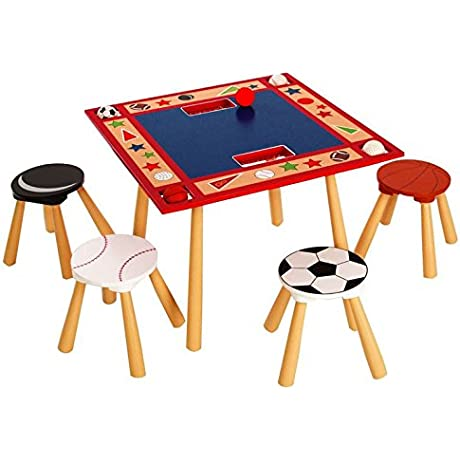 Levels Of Discovery All Star Child S Table And 4 Stool Set