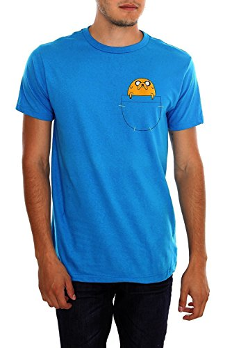 Adventure Time Mens Jake in Pocket T-shirt