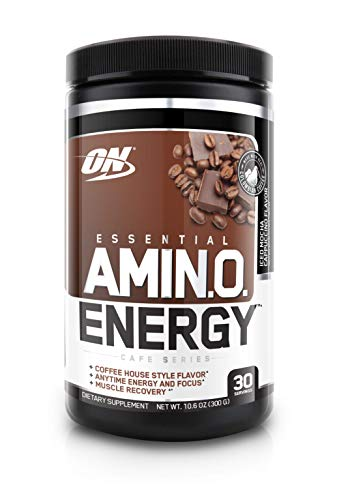 OPTIMUM NUTRITION ESSENTIAL AMINO ENERGY, Iced Mocha Cappucino, Preworkout and Essential Amino Acids with Green Tea and Green Coffee Extract, 30 Servings