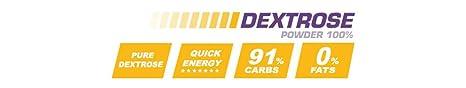 Carbohidratos DEXTROSE POWDER 100% 4 lb NEUTRO - Dextrosa en Polvo con Hidrato de Carbono Simple - Suplementos Deportivos y Suplementos Alimentación - ...