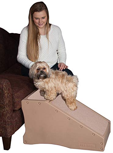 Pet Gear Stramp Stair and Ramp Combination, Dog/Cat Easy Step, Lightweight/Portable, Sturdy, StRamp-Tan from Pet Gear