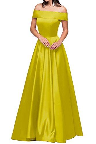 lungo oliva della sera Modern a Damen abito vestito Fest Satin a abito U abito Verde Scollo partito del da linea Prom ressing ivyd B4g8Aq4v