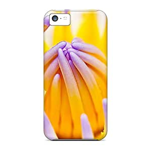 High Quality Shock Absorbing Cases For Iphone 5c-purple Water Lily