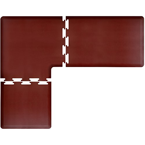WellnessMats PuzzlePiece Collection L Series Burgundy Anti-Fatigue Mat, 7.5 x 6 Foot