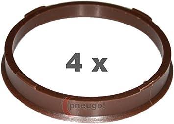4 X Zentrierringe Kunststoff 73 1mm Auf 66 6mm Braun Auto
