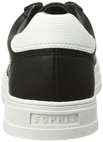Esprit Sidney Lace Up, Zapatillas para Mujer Negro (001 Black)