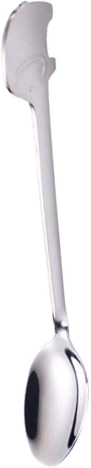 16.2 x 2 cm Black Fork LOVIVER Creative Elephant Flatware Spoon Fork Stainless Steel Utensils Spoons and Forks