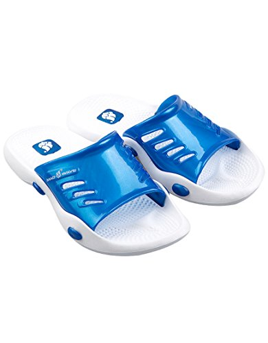 Mad Wave 01 donna M0316 6 02W pantofole, colore: bianco/blu, taglia: 40