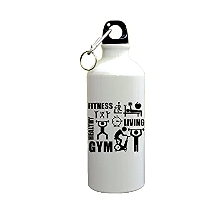 PrintBharat Gyming Motivational Quotes Fitness Healthy Living Gym Sipper  Printed Sipper(600ml,Aluminium)