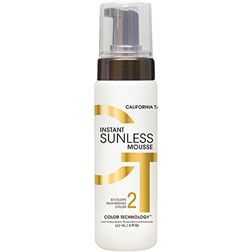 California Tan Instant Sunless Tanning Mousse, Formulated to Reduce Steaks, Dryness, and Skin Irritation, Cruelty Free, 6 - Tan Instant Mousse