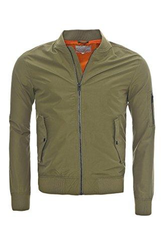 Bomber Deep Maniche Giacca Lunghe Lichen Jones amp; Green Jack Jacket Basic Uomo Verde vBptRwq
