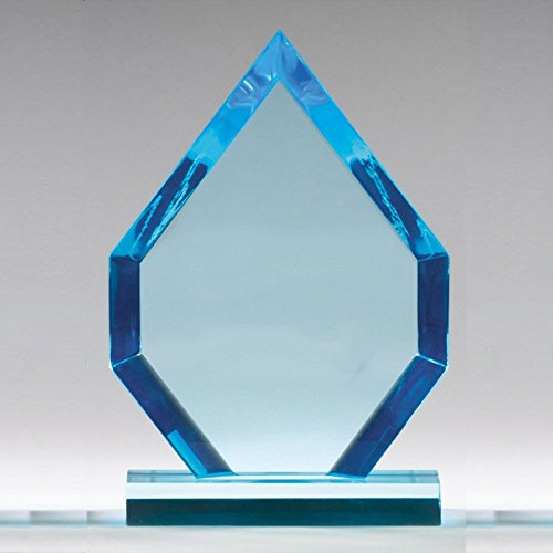 Customizable 8 Inch Blue Acrylic Arrow Head Award, Includes Personalization - Acrylic Trophy