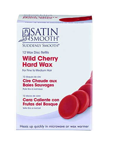 Satin Smooth Wild Cherry Microwave Wax Discs 12 counts per pack