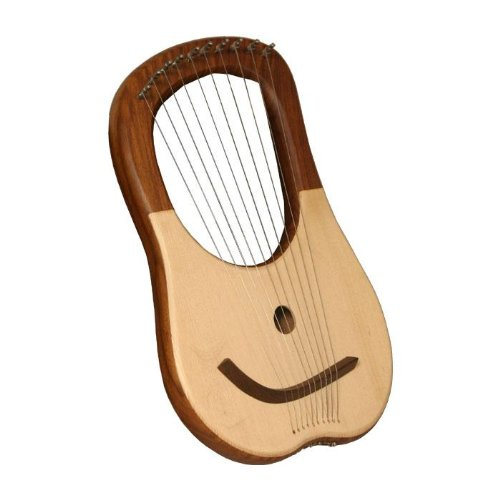 10 String Lyre Harp by Mid-East