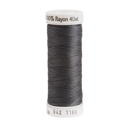 Sulky Rayon Thread for Sewing, 250-Yard, Medium Steel Gray