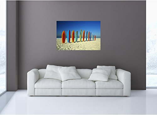 Boards in a Row on Sandy Beach #1 Wall Sticker Graphic Decal Home Kids Game Room Office Art Decor NEW (Row Surfboards)