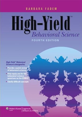 High-Yield Behavioral Science (4th 2012) [Fadem]