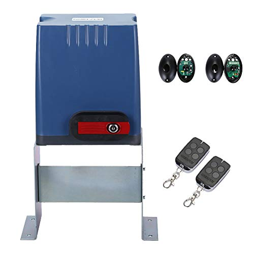 GATEXPERT Sliding Gate Opener with Remote Controls & Security Photocell Sensor,Chain Driven AC Motor for Gate up to 1350lb (AT1350 Automatic Gate Opener Kit) ()