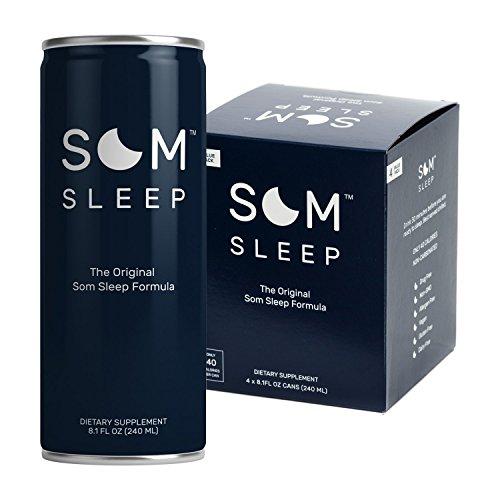 Som Sleep, The Original Sleep Support Formula w/ Melatonin, Magnesium, Vitamin B6, L-Theanine & GABA - Non-GMO, Vegan, Gluten-Free Sleep Aid Drink Supplement - Original, 8.1 Fl Oz, 4-Pack