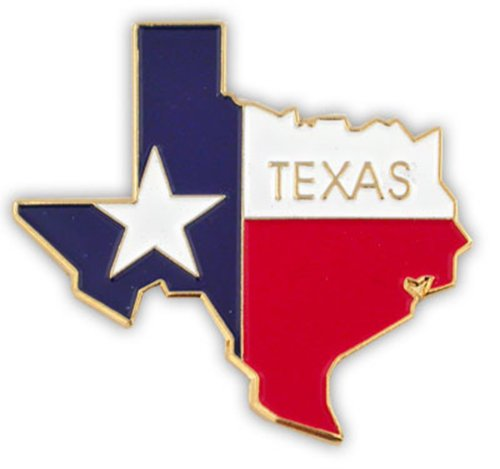 (PinMart State Shape of Texas and Texas Flag Lapel Pin)