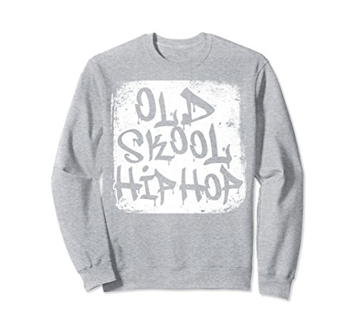 Unisex Old Skool School Hip Hop Graffiti Crewneck Sweatshirt Small Heather - 90s What The In Was Cool