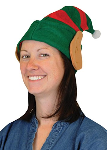 [Beistle 20735 Felt Elf Hat with Ears] (Green And Red Elf Costumes)
