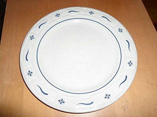 """Longaberger Pottery Dinner Plate 10"""" Woven Traditions Blue (No Box)"""