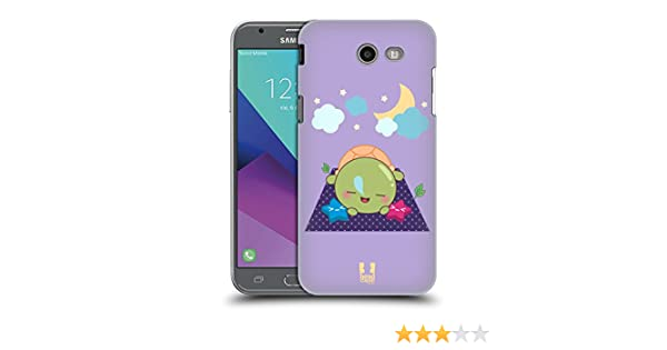 Head Case Designs Kawaii Tortugas Hard Back Case para Samsung Phones 3, plástico, Sleep, Samsung Galaxy J3 Emerge