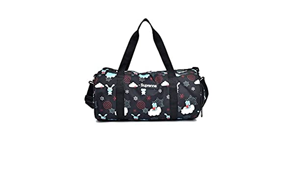 c9cc27b33bc2 Amazon.com: Higere Durable Canvas Large Capacity Gym Bag Sports ...